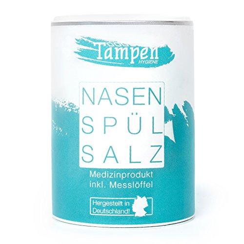 Nasenspülsalz (lose) · inkl. Messlöffel · 120 Anwendungen · 300g Nachfüllpackung XXL · Salz für die Nasendusche · Tampen Hygiene