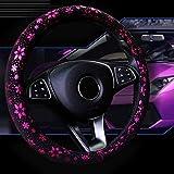 Auto Lenkrad Abdeckung Shiny Snowflake 4 Farben Anti-Rutsch-Niedlich F¨¹r 15 Zoll Frauen Rosa