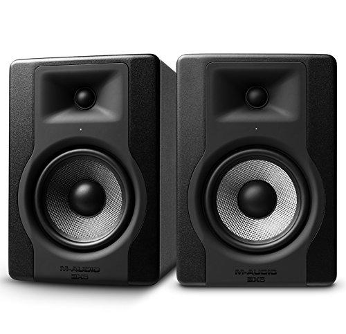 M-Audio BX5 D3 Paar - Professionelle 2 Wege Aktiv Studio monitor und PC  Lautsprecher 5 zoll woofer, 100 W für Musik produktion und Mixing mit eingebauter Acoustic Space Control