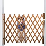 LaCyan Türschutzgitter Hundegatter Trading Hundeabsperrgitter Treppenschutzgitter Holzzaun Leitplanke (XL)