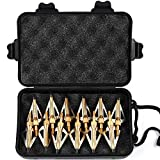 MEJOSER 12 x Pfeilspitzen Jagdspitzen Armbrust Bogen Alu mit 3 Klingen aus 430 Edelstahl mit Aufbewahrung