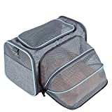 Petsfit Komfort Erweiterbarer Haustiertragetasche für Hunde und Katzen, Blau, Weiche Seiten, 47cm x 30cm x30cm (Groß)