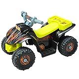 Homcom Kinderauto Kinderwagen Elektroauto Kinderfahrzeug Kindermotorrad Quad Elektroquad Kinderquad Elektromotorrad (Elektroquad/gelb-schwarz)