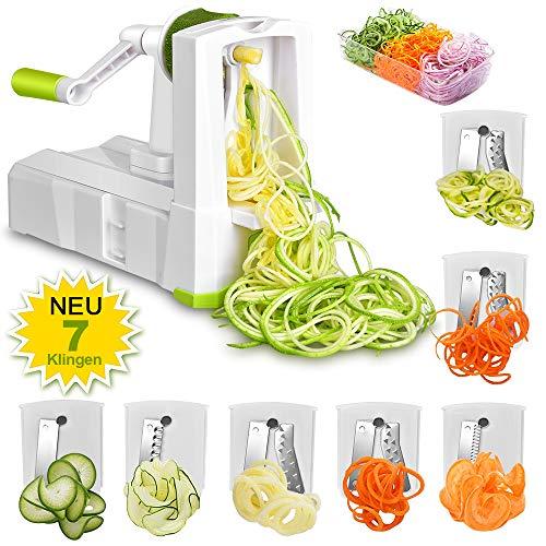 7 in 1 Gemüseschneider - Obstschneider Zwiebeln schneiden Edelstahl Klingen für Salat Fleisch Knoblauch Nüsse Obst Kraut