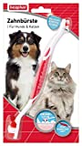 Zahnbürste für Hunde und Katzen | Hunde- & Katzen-Zahnpflege | Hundezahnbürste für gepflegte Zähne | Ergonomischer Griff | 1 Stück