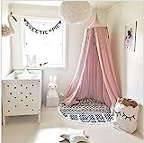 Betthimmel für Kinder/Babys, Baumwolle, Moskitonetz zum Aufhängen, Vorhang, Spiel- und Lesezelt für innen und außen, Bett-/Schlafzimmerdekoration, Insektenschutz, Höhe 240 cm, Umfang oben: 152 cm, Umfang unten: 265 cm