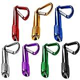 7pcs Mini Keychain Taschenlampe, FLYING_WE Batteriebetriebene Taschenlampe, für Camping, Wandern, Jagen, Rucksackreisen, Angeln und andere Outdoor-Aktivitäten. (7 Farben)