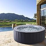 Whirlpool MSpa aufblasbar für 4 Personen SPA Ø180x70cm In-Outdoor Pool 118 Massagedüsen Timer Heizung Aufblasfunktion per Knopfdruck TÜV geprüft Bubble Spa Wellness Massage