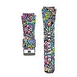 IGEMY Neuer Mode-Sport, der Silikon-Bügel für Samsung Gear S3, psychedelische Farben-Handgelenk-Bänder druckt (H)