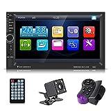 Elerose Auto Video Player 7'Touchscreen Multimedia MP5 Player USB FM Bluetooth mit Rückfahrkamera Fernbedienung