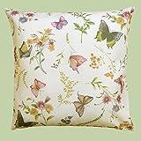 Kamaca Serie Schmetterlinge AUF DER BLUMENWIESE in Creme mit zarten Pastelltönen EIN Schmuckstück in jedem Raum