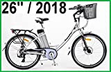 POWERPAC - PEDELEC ELEKTROFAHRRAD E-BIKE FAHRRAD - hydr. Scheibenbremsen + Akku Li-Ionen 36V 16AH (576 Wh) - 2018 (Mountainbike (schwarz), 26')
