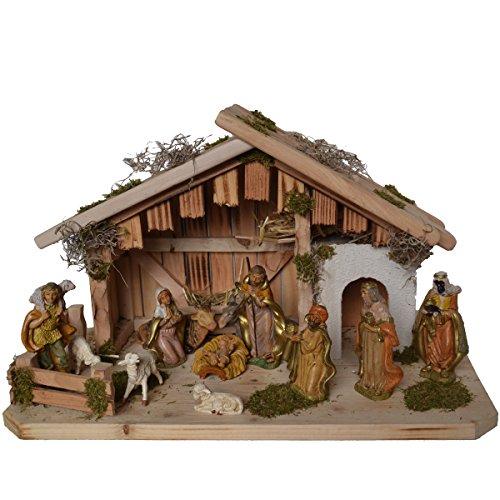 Alfred Kolbe Krippen 1356/0 G Weihnachtskrippe aus Holz für 10-12 cm Figuren 50 x 25 x 30 cm