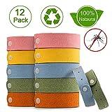 Nasharia Mückenschutz Armband, 12 Stück Anti Mosquito Bracelet Repellent Wasserdichtes Wristband Armband Natürliches Material Mücken Gürtel Schutz für Kinder, Erwachsene
