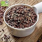 1000g Bio Kakaonibs Roh SUPERFOOD aus Peru | 1 kg | Premium Qualität | Kakaobohnensplitter Cirollo | ROHKOST 100% Naturbelassen | Kakao Nibs aus Kakaobohnen | kompostierbare Verpackung | STAYUNG