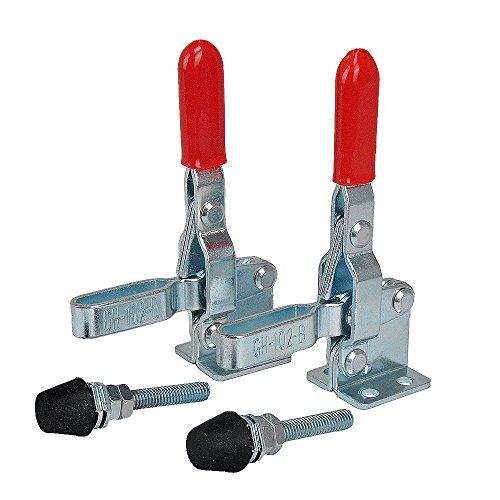 IMAGINE 2 Stk GH-102B 100Kgs/220Lbs Kniehebelspanner Waagrechtspanner Schnellspanner Haltekraft Spannhebel Klemmen Handwerkzeuge Toggle Clamp