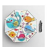 WDSZLH Superleichter Mini-Taschenschirm für Herren mit fünf faltbaren Regenschirmen als Regen- / Sonnengeschenk für Damen