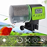 JINWENZHANG Automatisierte Futterspender für Fische Aquarium Futterautomat große Kapazität 200ml,digitaler Timer,LCD-Anzeige