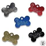 Hundemarke mit Gravur - ID Tag - Adressanhänger - Adressschild - Individuelle - Personalisiert - Diamantgravur