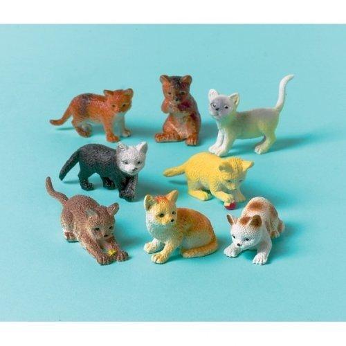 amscan Katzen kleine Figuren Mitgebsel Party-Fun 12 Stück