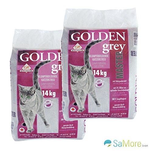 Golden Grey Master Katzenstreu mit Babypuderduft 2x14kg