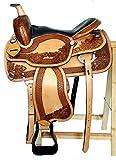 Westernsattel GEORGIA aus Büffelleder, New, Größe:16 Zoll