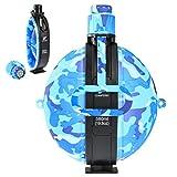 RUNACC Wasserflasche Faltbare Feldflasche Militärische Kantine Portable Silikon Wasserkessel mit Kompass Kronkorken für Wanderungen, Camping, Radfahren und Reisen, BPA-Frei, 580mL