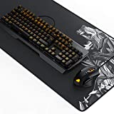 TITANWOLF Gaming Set - mechanische Tastatur ALUMAR + MMO 10800dpi Gaming Maus 'Specialist' + XXL Mauspad | Mechanical Keyboard | Anti-Ghosting | LED Backlight | 19 Lichtmodi | Makro-Modus