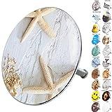 Badewannenstöpsel, viele schöne Badewannenstöpsel zur Auswahl, hochwertige Qualität  (Seesterne Grau)