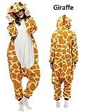 ABYED Jumpsuit Tier Karton Fasching Halloween Kostüm Sleepsuit Cosplay Fleece-Overall Pyjama Schlafanzug Erwachsene Unisex Lounge
