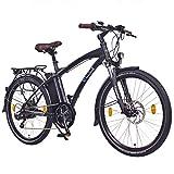 NCM Essen 36V 26' Zoll Urban City E-Bike, 250W Bafang Heckmotor, 13Ah 468Wh Li-Ion Akku, Shimano NEXUS 7 Gang Schaltung, matt schwarz