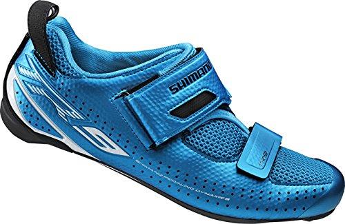 Shimano Erwachsene Fahrradschuhe Triathlonschuhe SH-TR9 GR. 39 SPD-SL Klettverschl, Mehrfarbig, 39, ESHTR9NC390SB00