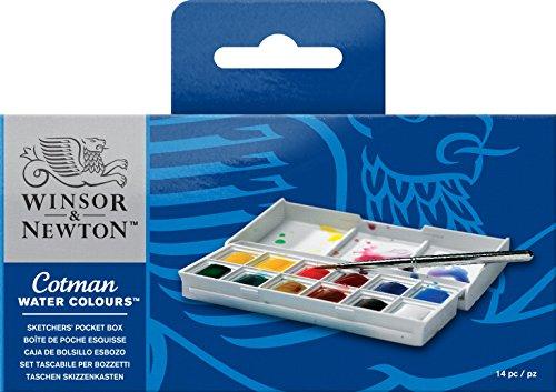 Winsor & Newton Cotman Aquarellfarbe Sketchers Pocket Box 12 halbe Näpfe