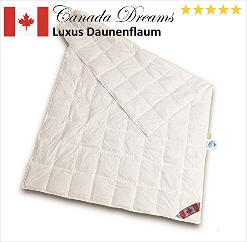 Canada Dreams Luxus Sommerbett Daunendecke Wärmegrad 1 Luxus Daunenflaum  (135x200 cm)