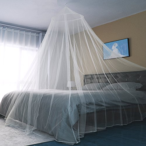 Sekey Moskitonetz Für Einzel- und Doppelbette | Moskitonetz Bett | Mesh Insektennetz | Mückenschutz | Insektengitter | Schnelle und Einfache Installation