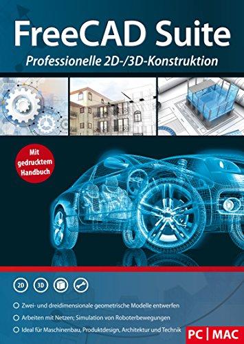 FreeCAD Suite - Professionelle 2D und 3D Konstruktion Architektur, Maschinenbau, Elektrotechnik, Schiffsbau usw. 3D CAD Programm, Software für Windows 10 / 8.1 / 8 / 7 / XP