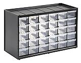 Stanley Kleinteilemagazin / Sortimentskasten (36.5x15.5x22.5cm, mit 30 Schubladen, bruchfester Kunststoffrahmen, transparente Schubladen, geeignet für Wandmontage) 1-93-980