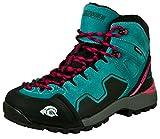 GUGGEN Mountain PM021 Damen Trekking-& Wanderstiefel Wanderschuhe Trekkingschuhe Outdoorschuhe wasserdicht mit Membran und Wildleder Farbe Blau EU 38