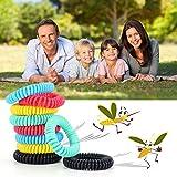 Diswoe Mückenschutz Armband, 10 Stück Mosqito Mückenarmband Insektenschutz Naturals Schutz Gegen Mück