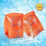 infinitoo Schwimmflügel Kinder, Schwimmhilfe, Schwimmreifen Schwimmen Armbands für Kinder und Kleinkinder von 2-6 Jahre, 15-30kg, Schwimmscheiben mit Delphin Design für Schwimmbad, Pool, Strand etc