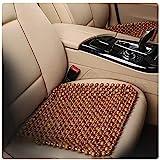 Holzkugel Massage Sitzauflage Natur Autositzkissen aus Holzperlen Kampferholz Sitzkissen Single Kissen,Brown