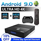 A95X Android TV Box F2 mit Tastatur【4G+64G】 Android 9.0 TV Box mit S905X2 Quad-core ARM Cortex-A53/WiFi 2.4G/5.0G /Bluetooth 4.2/ 4K HD/USB 3.0/ HDMI 2.0/ H.265 Smart tv Box