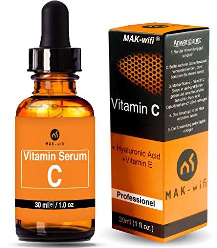 Vitamin C Serum Gesichtsöl für Gesicht und Haut von MAK-wif, Natürliche Anti Aging - Anti-Falten - Entfernt Aknenarben, feine Linien + Hydrate für Haut (30 ml)