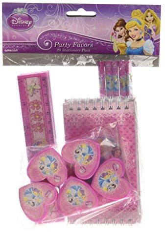 Disney Princess Amscan Prinzessinnen-Schreibwarenset, 20Teile, Partyzubehör, Mitgebsel