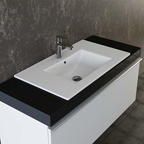 VILSTEIN Keramik Einbau-Waschbecken Einsatz-Waschbecken Waschtisch Becken Handwaschbecken 60 cm