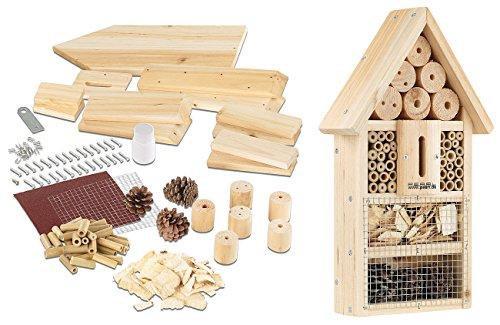 PEARL Insektenhaus: Insektenhotel-Bausatz, Nistkasten und Schutz für Nützlinge (Insektenhotel zum selber Bauen)