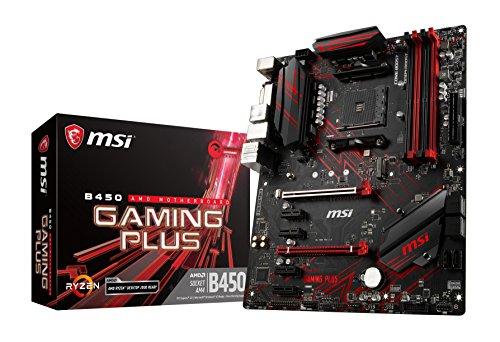 MSI B450 Gaming Plus, Sockel AM4, DDR4, HDMI, DVI-D, 1x M.2, 2x USB 3.1 Gen2, 4x USB 3.1 Gen1 ATX Mainboard