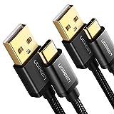 UGREEN USB Typ C Kabel 2 Stück USB C Kabel auf USB A USB C Ladekabel kompatibel mit Samsung Galaxy S10 S9 S8 Note8 Note 9 A8 2018 A5 2017, HTC U11,Sony XA2, LG G6,Xiaomi 5 usw. Aluminium Gehäuse (1M)