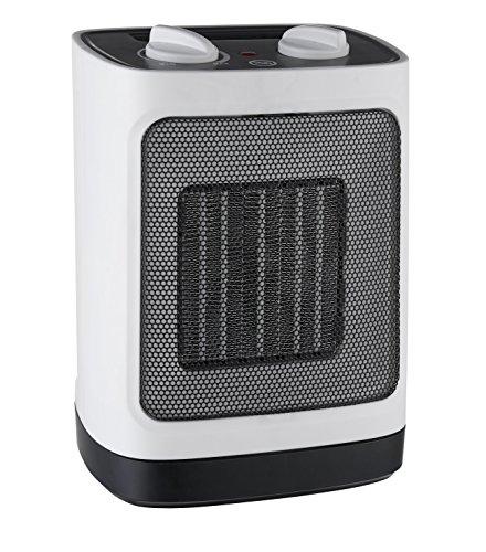 Pro Breeze Mini-Keramik-Heizlüfter (2000W) - Automatische Oszillation und zwei Leistungsstufen, weiß