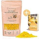Econovo 100% natürliches Bienenwachs ohne Zusätze - 200g gelbe Bienenwachs Pastillen vom Imker für Kosmetik, Bienenwachstücher, Kerzen, Holz- und Lederpflege (inkl. E-Book mit Rezepten)